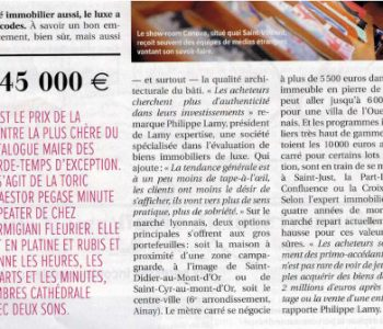 article immobilier luxe